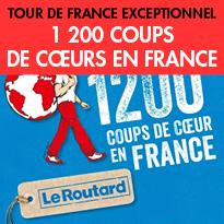 Le Routard<br>vous propose<br>ses 1200 coups de cœurs<br>en France