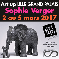 Dernières sculptures<br>de Sophie Verger<br>à Art up 2017 Lille