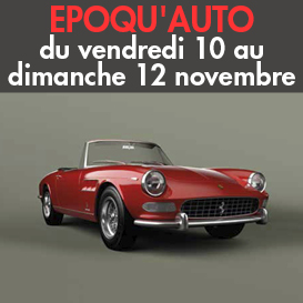 Epoqu'auto<br>Du 10 au dimanche 12 novembre<br>Lyon-Eurexpo (69)