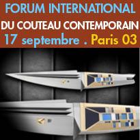 Le Forum International<br>du Couteau Contemporain<br>Paris (03)