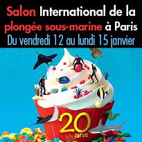 20 ans<br>du Salon de la Plongée à Paris<br>12 au lundi 15 janvier 2018