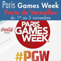 la Paris Games Week<br>du 1er au 5 novembre<br> Paris Expo