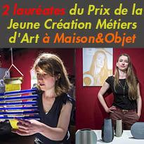 Maison&Objet<br>du 2 au 6 septembre<br>découvrez les creations<br>de Caroline de Salins<br>et Hélène Morbu