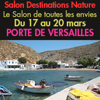 Du 17 au 20 mars 2016<br>Le salon<br>Destinations Nature<br>Paris Expo