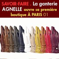 la Ganterie Agnelle<br>ouvre sa première boutique<br>à Paris