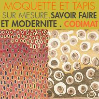 MOQUETTE ET TAPIS SUR MESURE<br>CODIMAT<br>NOUVELLE COLLECTION