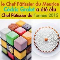Talent<br>Cédric Grolet<br>élu Chef Pâtissier<br>de l'Année 2015