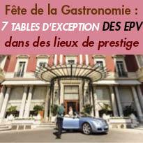 Fête de la Gastronomie<br>7 tables d'exception<br>des Entreprises<br>du Patrimoine Vivant