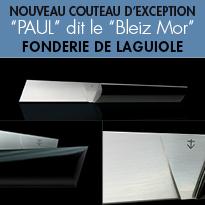 """""""PAUL"""" dit le """"BLEIZ MOR""""<br>couteau d'inspiration maritime<br>Fonderie de Laguiole"""