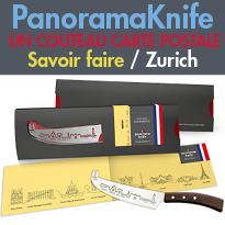 Souvenir<br>PanoramaKnife<br>un couteau design<br>couteaux « carte postale »