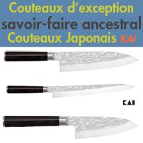 Kai<br>Savoir-faire ancestral<br>couteaux d'exception