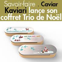 Kaviari<br>Box de Noël<br>Caviar<br>un petit luxe<br>de tous les instants