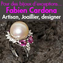 Fabien Cardona<br>Joaillier, designer<br>Fabricant, Artisan