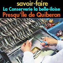 Etape gourmande<br>CONSERVERIE<br>la belle-iloise<br>Presqu'Île de Quiberon