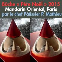 Paris (01)<br>Mandarin Oriental<br>la bûche<br>du Chef Pâtissier<br>Pierre Mathieu