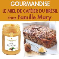 Miel de caféier<br>du Sud-Est<br>du Brésil<br>Famille Mary