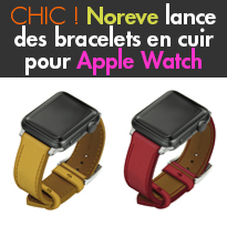 Bracelets<br>en cuir<br>pour Apple Watch<br>de Noreve