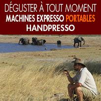 Handpresso<br>machines expresso<br>portables