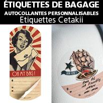 étiquettes CETAKII<br>étiquettes d'identification<br>pour vos bagages