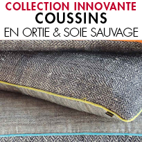 COUSSINS ORTIE & SOIE SAUVAGE <BR> COLLECTION KARAWAN AUTHENTIC
