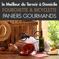 Paniers à thèmes<br>produits artisanaux<br>trésors culinaires