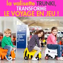 Trunki<br>à la fois valise pour les enfants<br>porteur et jouet