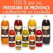 jus de fruits<br>équilibre et santé de la rentrée<br>Pressoirs de Provence
