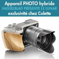 Chez Colette <br>le sublime appareil photo Numérique  <br>le «Lunar» de Hasselblad