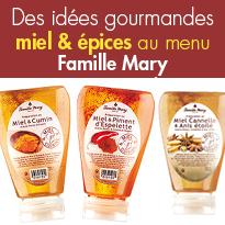 Miel & épices<br>idées gourmandes<br>le miel au menu