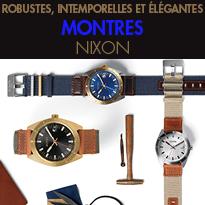 NIXON<br>3 nouveaux modèles<br>de montres