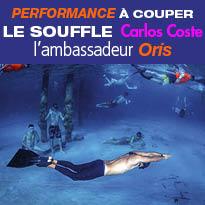 Nouveau<br>record du monde<br>d'apnée<br>de Carlos Coste