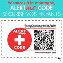 Vacances à la montagne,<br>AlertMe Code sécurise<br>vos enfants gratuitement