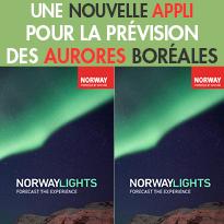 La Norvège lance <br>une nouvelle Application mobile<br>pour la prévision<br>des aurores boréales