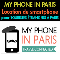 Nouveau<br>Location de smartphone tout compris<br>pour touristes étrangers à Paris