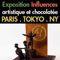 Influences<br>l'exposition éphémère<br>100 % chocolat
