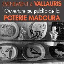 événement à Vallauris <br>Ouverture au public <br>de la Poterie Madoura