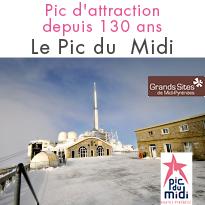 Parc d'attraction <br> depuis 130 ans <br> Le Pic du Midi