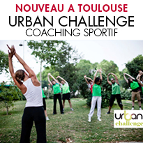URBAN CHALLENGE<br>LE LEADER DU COACHING SPORTIF EN PLEIN AIR <br>ARRIVE À TOULOUSE