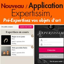 Nouveau<br>avec l'application Expertissim<br>Photographiez, estimez,<br>vendez!
