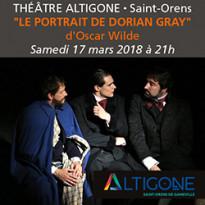 Théâtre<br>Le portrait<br>de Dorian Gray<br>d'Oscar Wilde