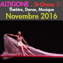 L'Espace Culturel Altigone<br>programmation de novembre 2016<br>St-Orens (31)