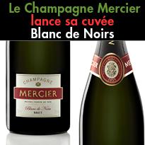 Une cuvée à contre-courant<br>Champagne Mercier<br>Blanc de Noirs