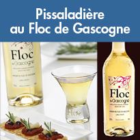 Entrée savoureuse<br>Pissaladière<br>au Floc de Gascogne