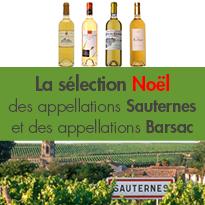 La sélection Noël<br>des appellations<br>Sauternes et Barsac