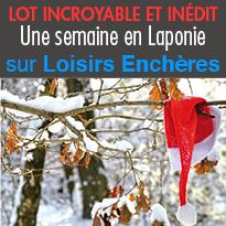 1 semaine<br>au Pays du Père Noël<br>mise aux enchères<br>dès 1€