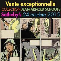 Vente aux enchères<br>Bande Dessinée<br>Sotheby's Paris<br>le 24 octobre 2015
