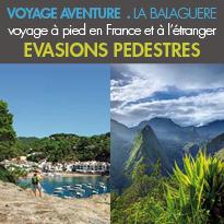 Randonnée<br>Trek et Trekking<br>voyage à pied<br>en France et à l'étranger
