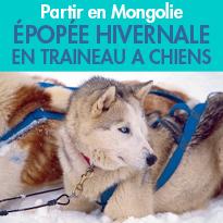 Mongolie<br>Épopée hivernale<br>en traineau à chiens