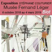 Exposition<br>Stéphane<br>Couturier<br>à Biot