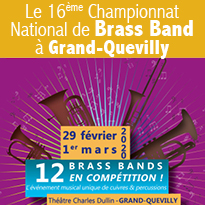 Du 29 février<br>au 1 mars<br>Championnat<br>National<br>de Brass Band